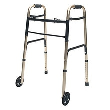 Lumex ColorSelect Adult Walker with Wheels Gold
