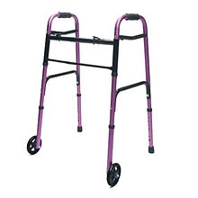 Lumex ColorSelect Adult Walker with Wheels Plum