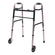 Lumex ColorSelect Adult Walker with Wheels Pink