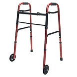 ColorSelect Adult Walker with WheelsRed