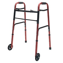 ColorSelect Adult Walker with Wheels, Red