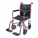 Everest & Jennings Aluminum Transport Chair 19 inch Pink Pink