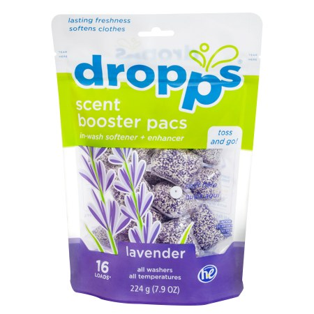 Dropps Scent Booster Pacs w/ In-Wash Softener + Enhancer Pacs Lavender