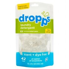 Dropps Laundry Detergent, 42-Load Pouch Scent & Dye Free