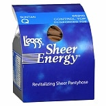 L'eggs Sheer Energy Control Top Reinforced Toe Revitalizing Pantyhose Q Suntan