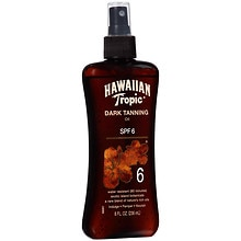 Hawaiian Tropic Dark Tanning Oil, Spray Pump, SPF 6