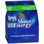 L'eggs Sheer Energy Revitalizing Sheer Toe Sheer Panty Q Nude