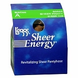 L'eggs Sheer Energy Sheer Panty & Toe Revitalizing Pantyhose A Suntan