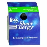 L'eggs Sheer Energy Sheer Panty & Toe Revitalizing Pantyhose A Jet Black