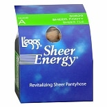 L'eggs Sheer Energy Sheer Panty & Toe Revitalizing Pantyhose A Nude