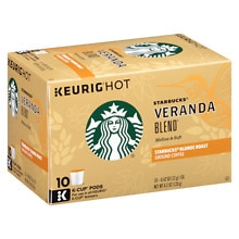 Starbucks Coffee Blonde Ground Coffee K-Cups 10 Pack Veranda Blend