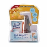 Lysol No-Touch Antibacterial Hand Soap Kitchen SystemTangerine