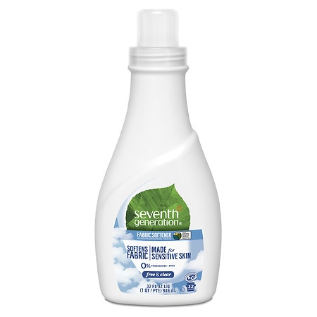 Seventh Generation Natural Fabric Softener Liquid, 42 Loads Free & Clear