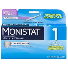 Monistat 1 Vaginal Antifungal, Prefilled Applicator