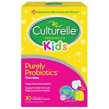 Culturelle Kids! Chewables Probiotic, For Kids 50-100lbs, Tablets Berry