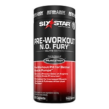 Six Star N.O. Fury Dietary Supplement Caplets