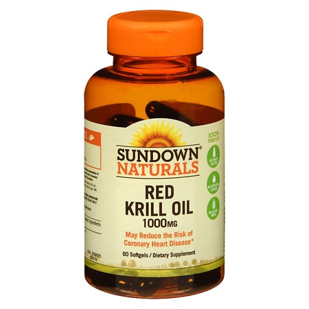 Sundown Naturals Krill Oil 1000 mg Dietary Supplement Softgels Triple Strength