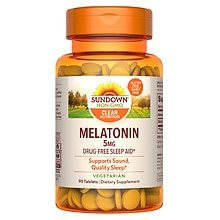 Sundown Naturals Melatonin 5 mg Dietary Supplement Tablets Extra Strength
