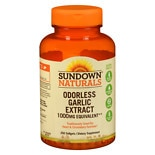 Sundown Naturals Odorless Garlic 1000mg, Softgels
