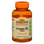 Vitamin D3 1000 IU, Softgels