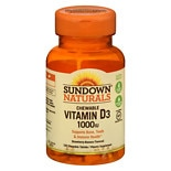 Sundown Naturals Chewable Vitamin D3 1000 IU, Tablets Strawberry-Banana