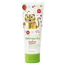 BabyGanics Say Ahh! Fluoride Free Toothpaste Strawberry