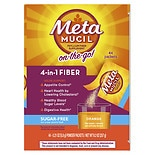 Metamucil Fiber Singles Fiber Supplement Packets 44 Pack Orange Orange