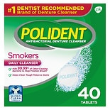 Polident Smokers, Antibacterial Denture Cleanser