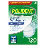 Overnight Whitening, Antibacterial Denture Cleanser Triple Mint Freshness