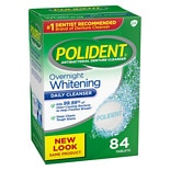 Polident Overnight Whitening Antibacterial Denture Cleanser Tablets Triple Mint Freshness Triple Mint