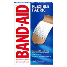 Band-Aid Flexible Fabric Adhesive Bandages Extra Large
