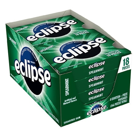 Eclipse Sugar Free Gum Spearmint, 8 pk