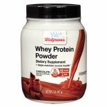 Walgreens Whey Protein Dietary Supplement Powder Chocolate