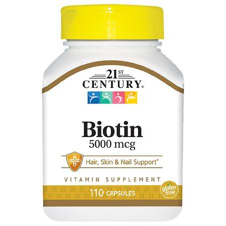 21st Century Biotin 5000 mcg High Potency Capsules