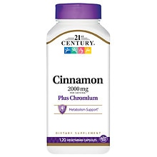 Cinnamon 2000 mg Plus Chromium, Veggie Capsules
