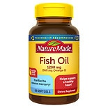 Nature Made Fish Oil 1200 mg Dietary Supplement Liquid Softgels Lemon Flavor
