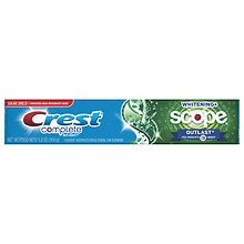 Crest Complete Extra White Plus Scope Outlast Fluoride Toothpaste Long Lasting Mint