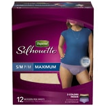 Depend Silhouette for Women Briefs Maximum Absorbency Peach Maximum Absorbency, 12 ea Size S/M