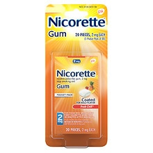 Nicorette Nicotine Gum, 2mg Fruit Chill