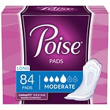 Poise Pads, Moderate Absorbency Long Length Long Length
