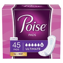 Poise Pads, Ultimate Absorbency, Absorption Supreme Long Length