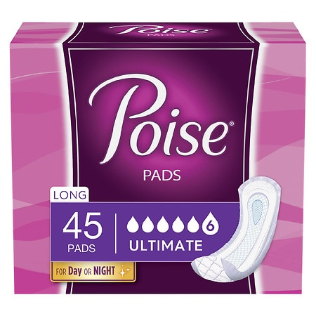 Poise Pads Overnight, Ultimate Absorbency Long Length