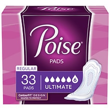 Poise Bladder Protection Pads Regular Regular Length Ultimate Absorbency