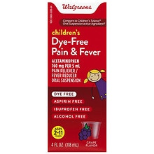 Walgreens Children's Pain Relief Suspension Liquid Dye-Free Grape Grape Flavor