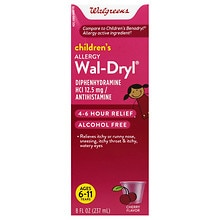 Wal-Dryl Children's Allergy Oral Solution Cherry, Cherry Flavor
