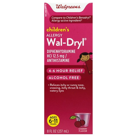 Walgreens Wal-Dryl Children's Allergy, Liquid Cherry