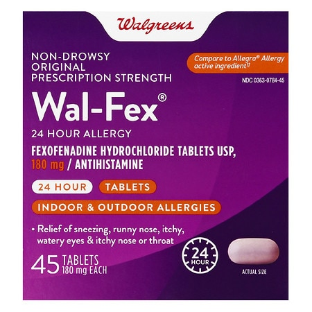 Walgreens Wal-Fexo 180mg ,Tablets