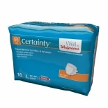 Walgreens Certainty Fitted Briefs Large Size Large