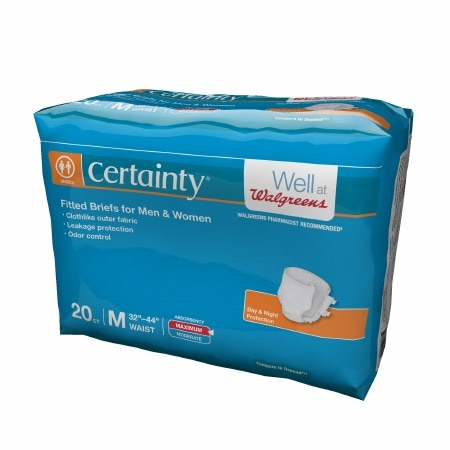 Walgreens Certainty Fitted Briefs Medium