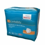 Walgreens Certainty Fitted Briefs X Large Size X-Large
